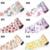 100 unids/set Nueva Hoja Del Clavo Etiqueta de Transferencia de Papel Flores de Leopardo Patrón de la Historieta del Arte de laca de Uñas Suministros