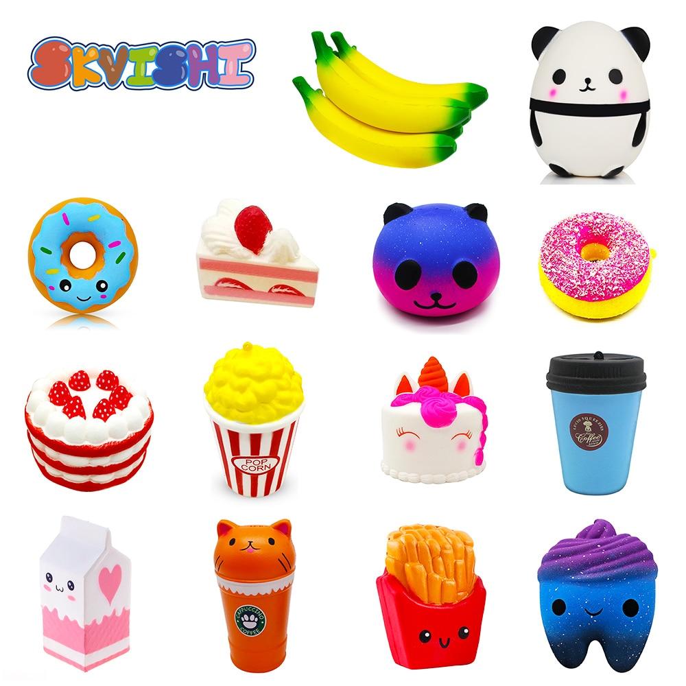 Antistress Squishy Panda Banana Squishe Gadget Novelty & Gag Toys Stress Relief Anti-Stress Practical Jokes Surprise Squshy Gift(China)