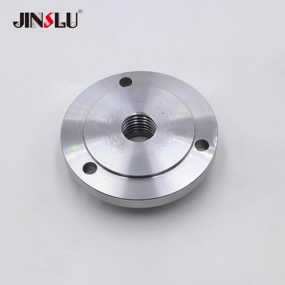 Image 2 - M33x3.5mm M33 Spindle Thread chuck Flange Back Plate base plate Adapter Plate K11 80 K12 80 K11 100 K12 100-in Woodworking Machinery Parts from Tools