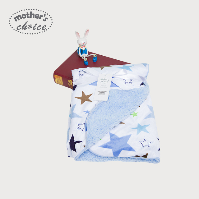 Mother's choice Winter Baby blanket 0-5 baby double layer fleece blanket on car Free shipping