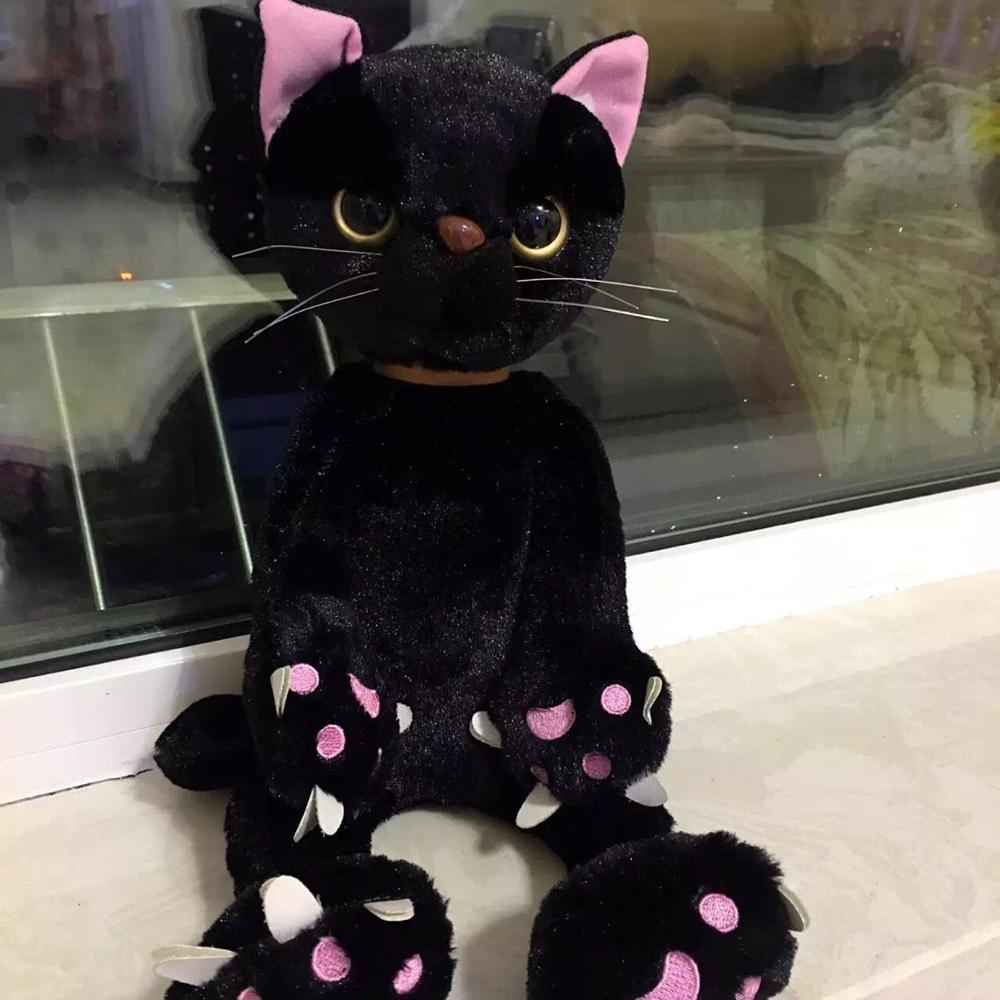 1Pc 40Cm 60cm Big Size Copy Style Japan Tamino Maita Scratch Plush Toy Cat Pillow Doll Kids Girlfriend Birthday Christmas Gifts new arrival tamino maita scratch cat plush toy stuffed cool unhappy kitty black white gray color 40cm 50cm freeshipping gift