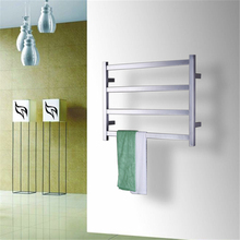 цена на Free Shipping Stainless Steel 304 Electric Wall Mounted Towel Warmer ,Bathroom Accessories Racks,Heated Towel Rail TW-RT2