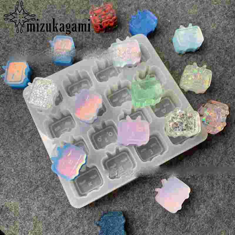 Silica Gel Mold for Crystal Dropping Gel Mini 3D Cute Television For DIY Jewelry Making Finding Molds Accessories