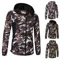 2017 New Men's Fashion Casual Jacket Camouflage Jacket Stitching Hooded Size Male Coat Free Shipping
