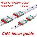 Коссель Мини для 12 мм Линейная Направляющая MGN12 L 400 мм линейный рельс + MGN12H Длинные линейные перевозки для ЧПУ Xyz Оси 3d-принтер часть
