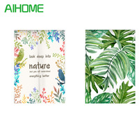 Japanese Style NOREN Curtain Tropical Plants Green Leaves Canvas Door Curtain For Kitchen Store Tapestry 85x100