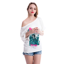 Fashion T shirt Women Gothic Shirts Off-Shoulder Clothing Funny 3D Tops Sexy T-shirt For Womens Hip hop Streetwear 5VB118