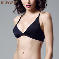 Summer Style European Bra Fashion Women Cup Thin Rims Bras Cross Halter Sexy Bikini Triangle Cup