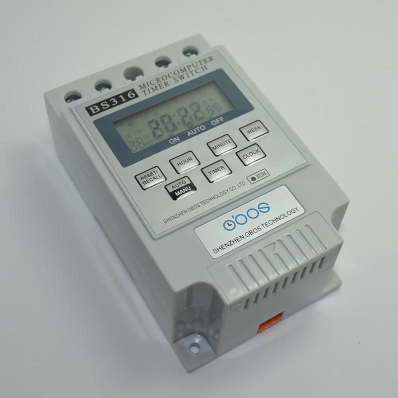 Új KG316T váltóáramú 220 V 12 V, 24 V 110 V 25A Din Rail digitális időkapcsoló