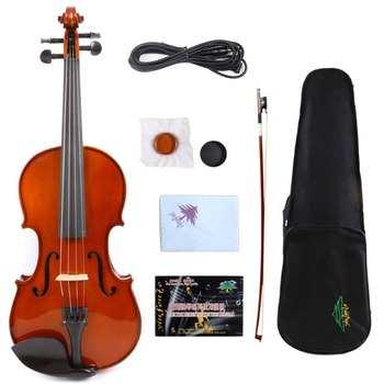 Yinfente 4/4 Electric Acoustic Violin Professional Fiddle Hand Made Maple Spruce wood Full Size
