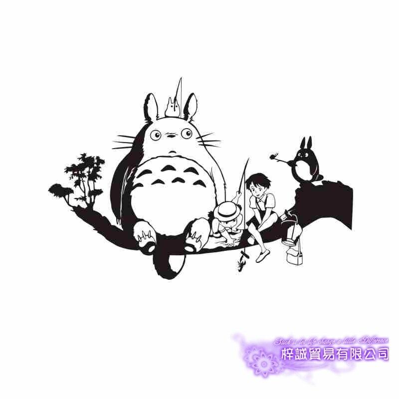 Pegatina Totoro Sticker Anime Cartoon Car Decal Sticker Vinyl Wall Stickers Decor Home Decoration