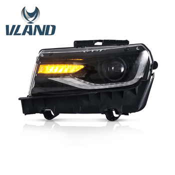 Vland factory Car Accessories Head Lamp for Chevrolet Camaro 2014-2015 LED Head Light Plug and Play Design