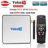YOKA KB2 PRO Android 6.0 Octa Rdzeń 3 GB 32 GB smart TV Box Amlogic S912 dla BT 4.0 Streaming Media Player dekodera PK KII PRO