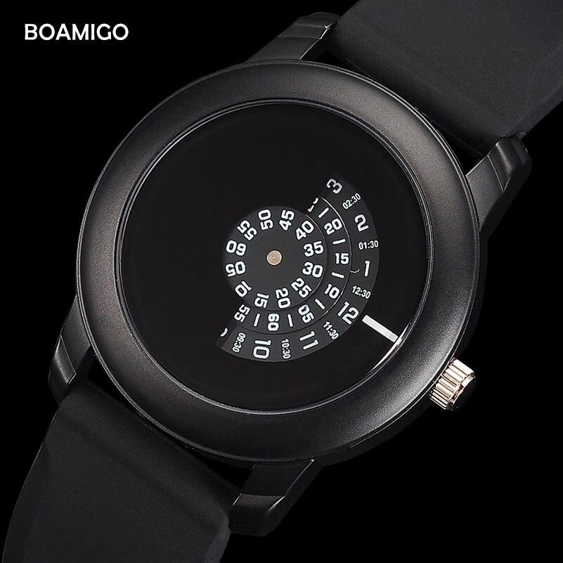 Männer uhren Extrem einfache quarzuhr BOAMIGO mode lässig gummi armbanduhren 2017 kreative geschenk clcok relogio masculino