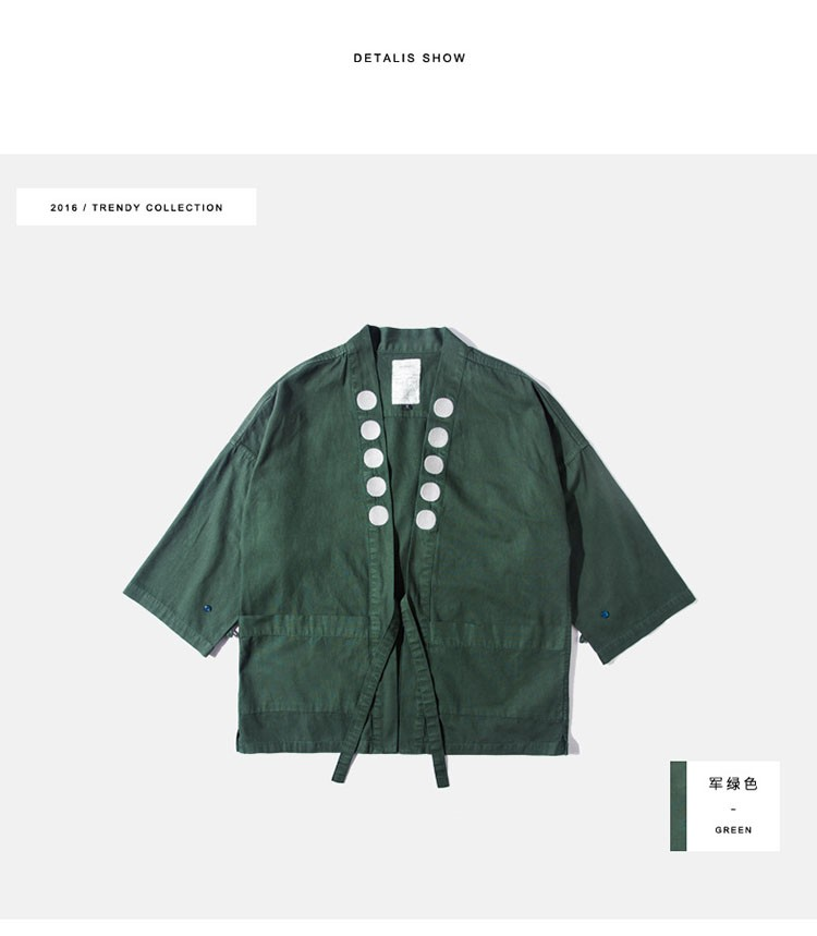 Kimono jacket mens japanese clothing fashion design harajuku street wear casual japan style outwear kanye west kimonos jackets (11)