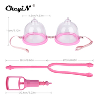 Large Size Professional Vacuum Cupping Massager Nipple Sucker Breast Pump Enlarger Clamps Enlargement Set Fat Cups Sexy Lady