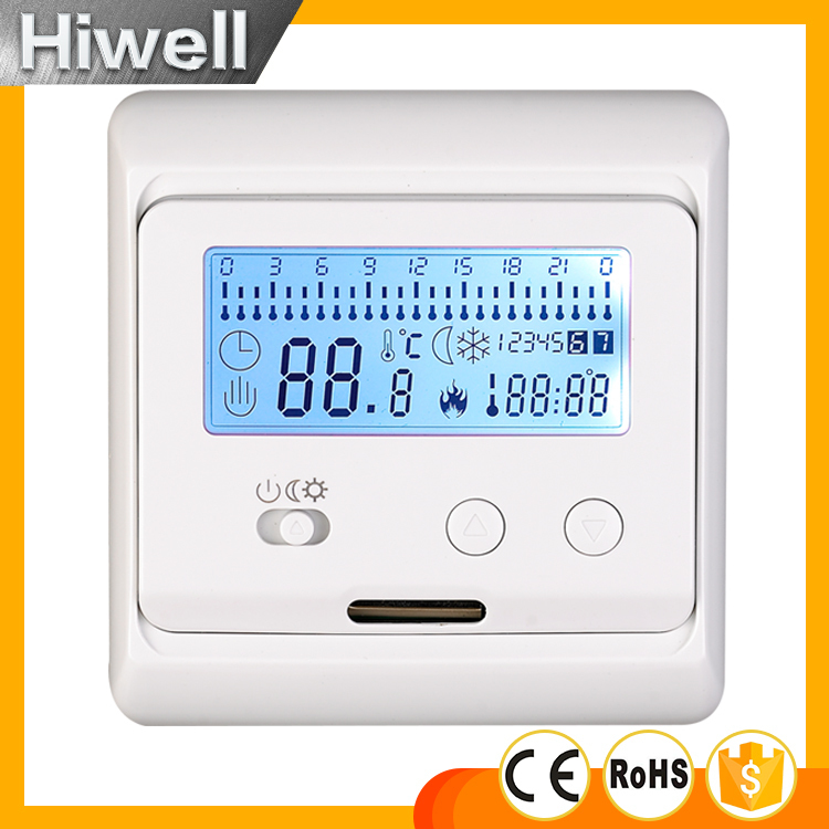 non programmable thermostat simple thermostat LCD thermostat for floor heating CE ROHS 16A SWITCH digital touch screen thermostat lcd programmable thermostat temperature controller switch room floor heating thermostat home use