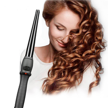 Curling Iron Tourmaline Ceramic Hair Curlers Cone Shape Portable Curly Iron Hair Wand Professional Hair Iron Salon Styling Tool