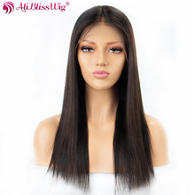 Straight Lace Front Wigs For Women Natural Straight Human Hair Lace Wigs With Baby Hair Brazilian Remy Hair Full End Aliblisswig(China)