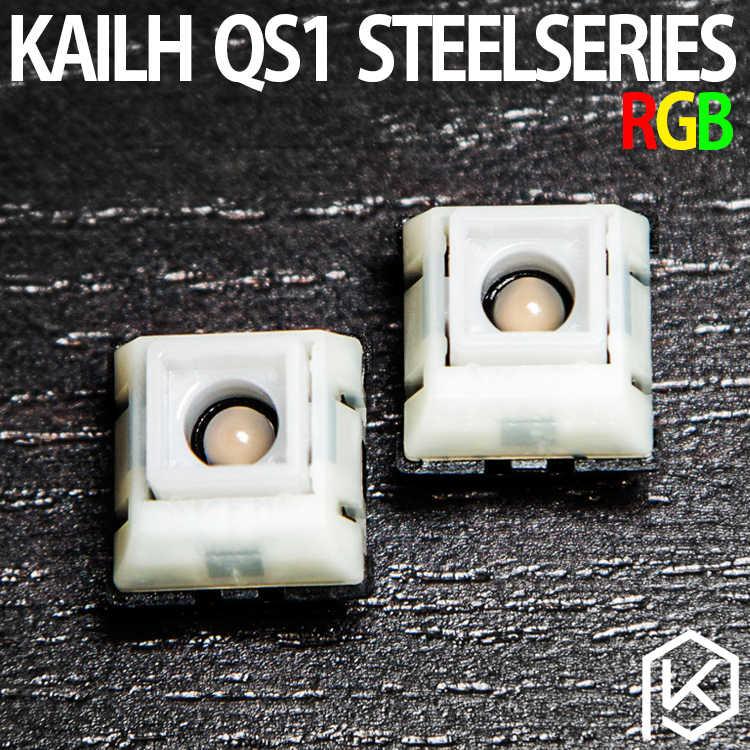 SteelSeries QS1 RGB interruptor kailh interruptor de bajo perfil mecánica interruptor de llave transparente de Kaihua PG158301D01 RGB