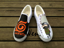 Wen Hand Painted Anime Shoes Naruto Design Custom Slip On Shoes Man Woman's Canvas Sneakers Birthday Gifts
