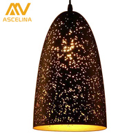 Loft Style Hollow Carved Hanging Lights Retro Vintage Lamp Shades Luminaires Pendant Lamp Modern Vintage Lamps