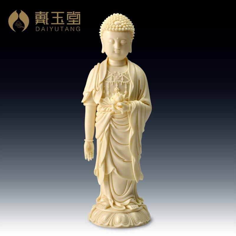 Dehua porcelana mestre Lin Dai Yutang Jiansheng mestre da arte/Estado de Lótus Buddha D03-220
