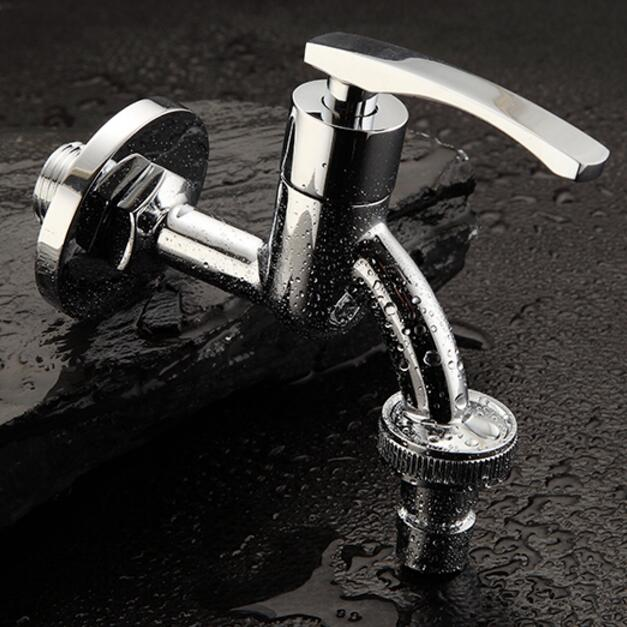 High Quality Long Antique Brass Decorative Garden Faucets Single Cold  Bibcocks Washing Machine Tap Outdoor Faucet In Bibcocks From Home  Improvement On ...