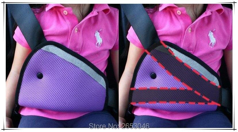 hot sale car practical safe fit seat belt padding adjuster for kids baby car triangle safety