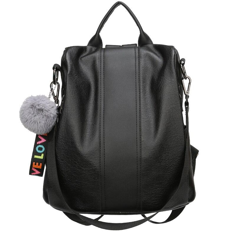 2019 Fashion Women Backpacks PU Leather Backpack Shoulder Bags Daypack for Women Female Rucksack Feminine Mochila With Blub in Backpacks from Luggage Bags