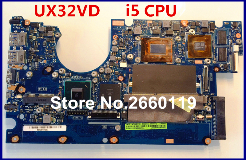 laptop motherboard for asus UX32VD with i5 CPU system mainboard fully tested and perfect quality