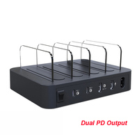 45W Dual USB PD Fast Charger Station QC3.0 Fast Charging Power Adapter Holder For iPhone 11 Pro XS MAX XR SAMSUNG Note 10+ 9 S9+