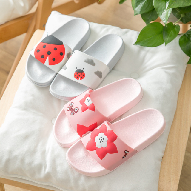 32fad0cc Dropshipping Women Shoes Cute Animal Sliders Cartoon Flip Flops Slippers  Home Bathroom Slippers Non Slip On