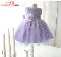 1 años de edad baby girl dress princesa arco grande de la vendimia Cordón de las muchachas de Flor Vestidos de Eventos Niños Ropa Bebés Cumpleaños Bautismo dress