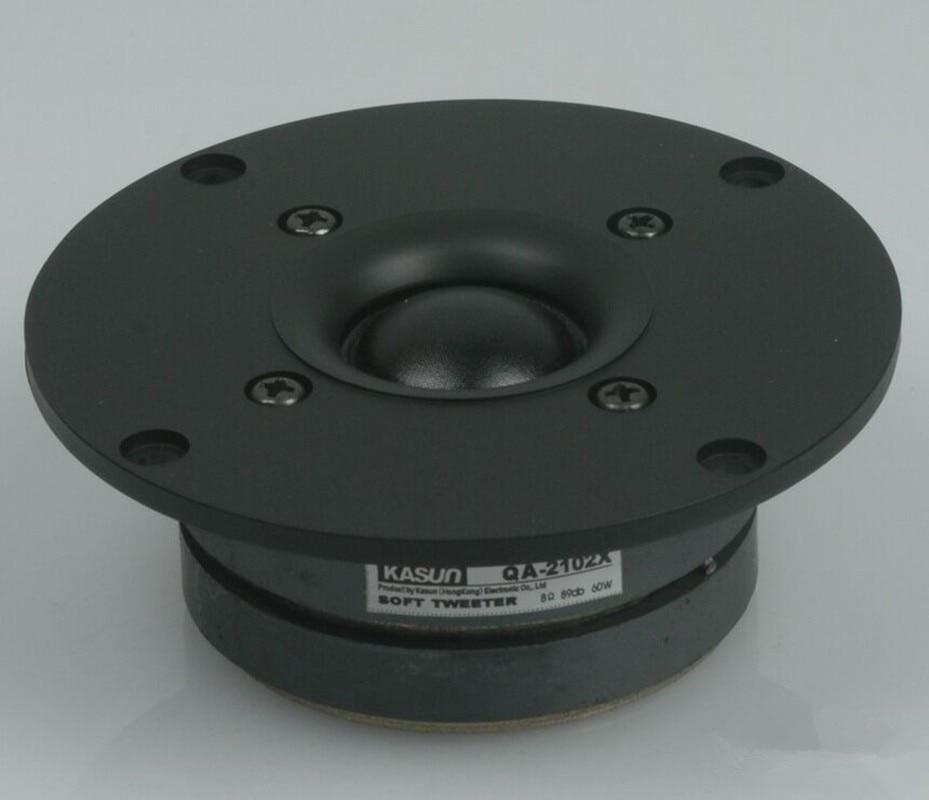 HI-FI Series Tweeter Loudspeaker QA-2102X 60W 8ohm 4inch Tweeter Senior Silk Membrane Double Magnetic  Speaker