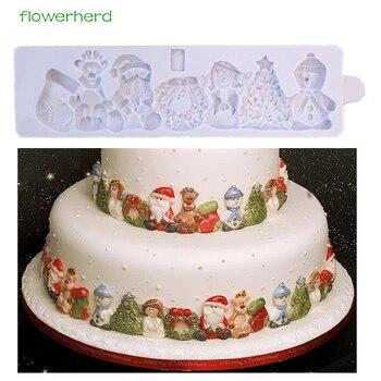 Weihnachten Grenze Mould Diy Neue Art Baby Geburtstag Kuchen Form