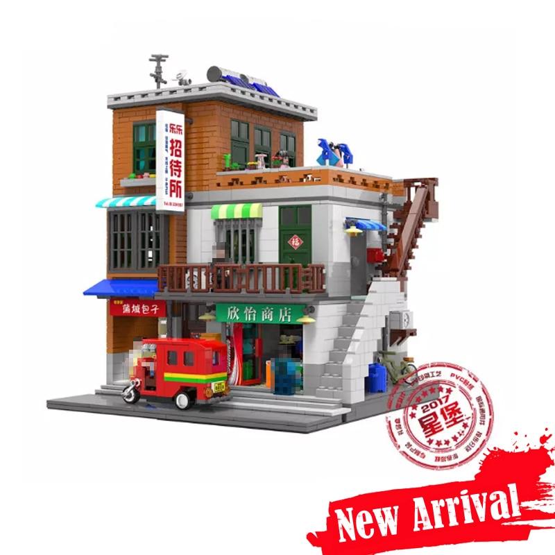 цены IN STOCK XINGBAO 01013 2706 pcs Genuine Creative MOC City Series The Urban Village Set Building Blocks Bricks Toys Model Gift