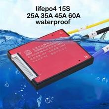 EBike 15S 48 فولت lifepo4 بطاريات معمرة لوح حماية 20A 30A 40A 50A 60A ليثيوم الحديد تهمة التوازن PCB PCM حزمة خلية BMS 3.2 فولت