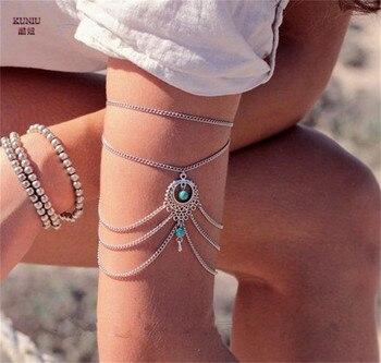 Boho Gypsy Bracelet Upper Arm Chain Armband Beach Bangle
