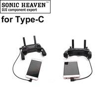Micro USB для IOS/type C/Micro USB кабель для передачи данных 90 градусов OTG кабель Шнур для DJI Mavic 2 Pro Zoom/Air/Spark DJI USB кабель