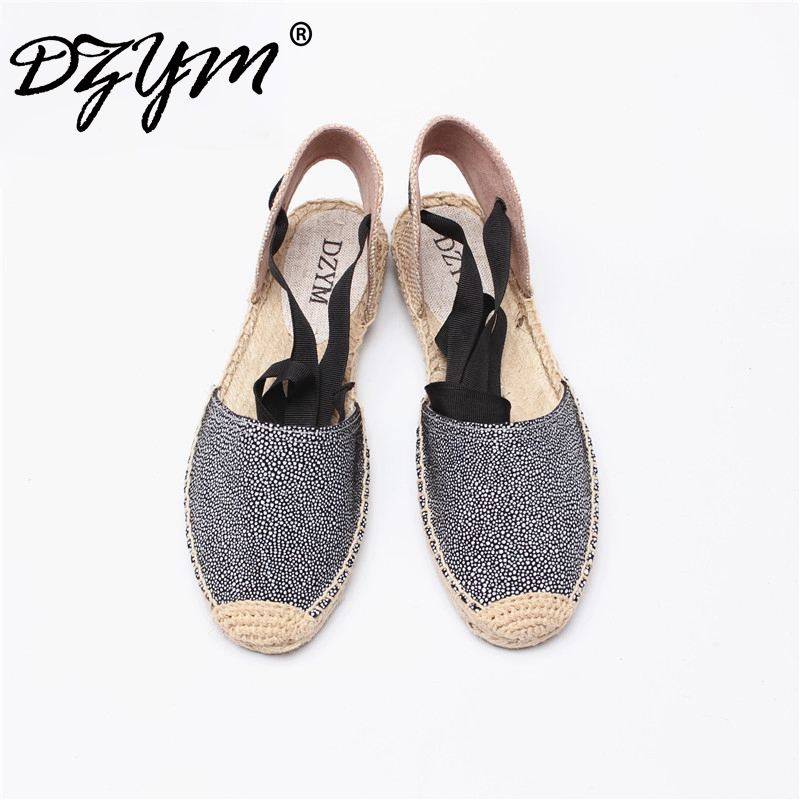 DZYM 2017 Straw Linen Espadrille Ankle Strap Women Ballet Flats Platform Loafers Quality Fisherman Shoes Leopard Zapatos Mujer alfani women s linen blend open front cardigan straw pm