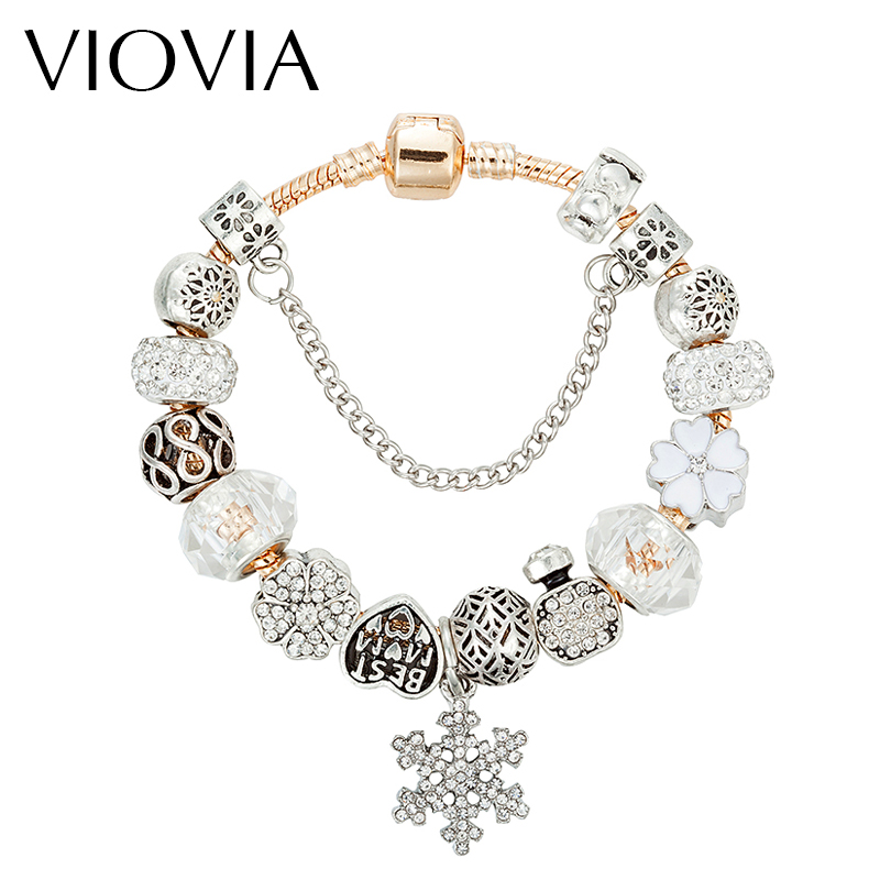 Snowflake Charm Bracelet: Aliexpress.com : Buy VIOVIA Christmas Gift Snowflake Charm
