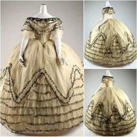 Historical Civil War Southern Belle Gown evening Dress/Victorian Lolita dresses/scarlett dress US6 26 SC 937