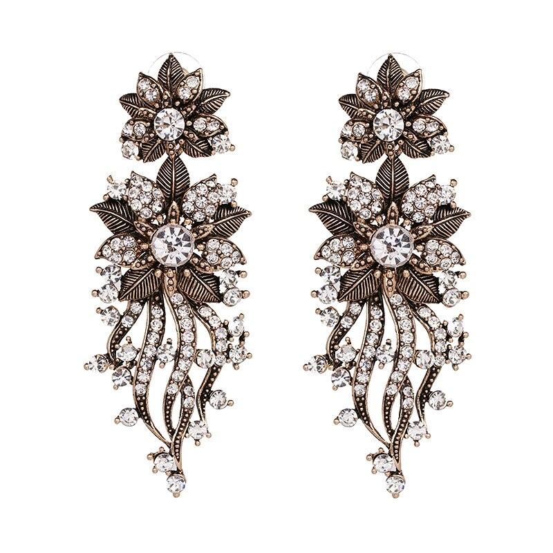 Vintage Antique Rhinestone Earrings