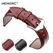Genuine Leather Watchbands Bracelet Women Men Brown Black Smooth Soft Cowhide Watch Strap Clock Accessories 18 19 20 21 22 24mm стоимость
