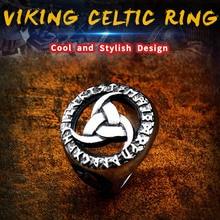 BEIER 316L Stainless Steel Viking Design Rune Talisman Men Ring Europe Fashion Jewelry Gift  Dropshipping LLBR8-616R