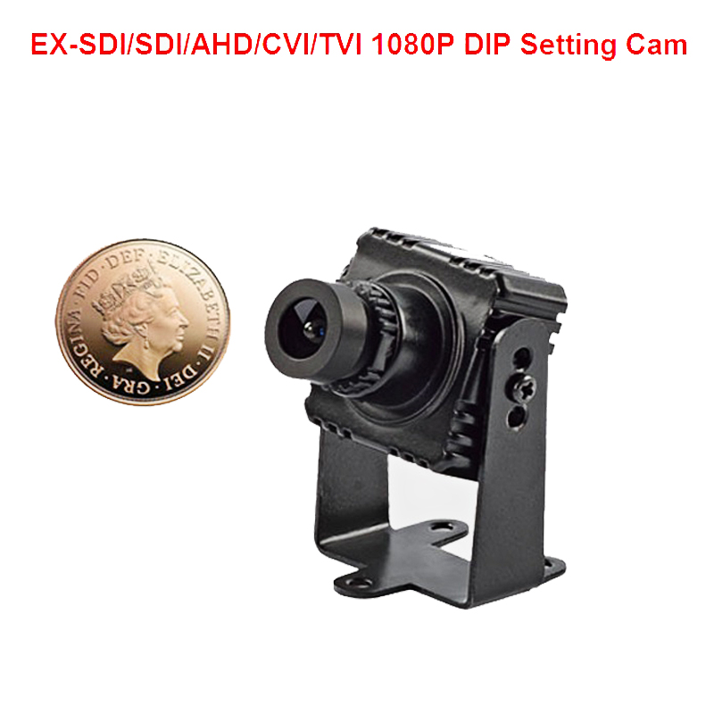 1080P EX SDI SDI AHD CVI TVI Anlaog 6 In 1 Mini Camera 1080P CCTV Camera
