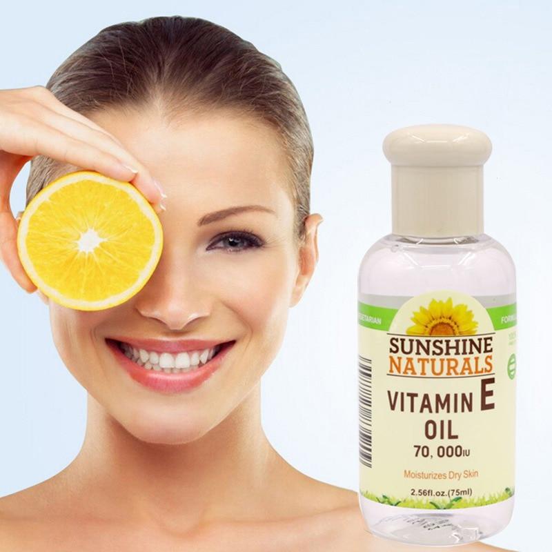 Useful Natural Vitamin E Oil Face Body Skin Care Whitening Anti-Cracking Anti-Wrinkle Essence free shipping natural vitamin e soft capsule supplement vitamin e 0 25g softgels 60 capsules