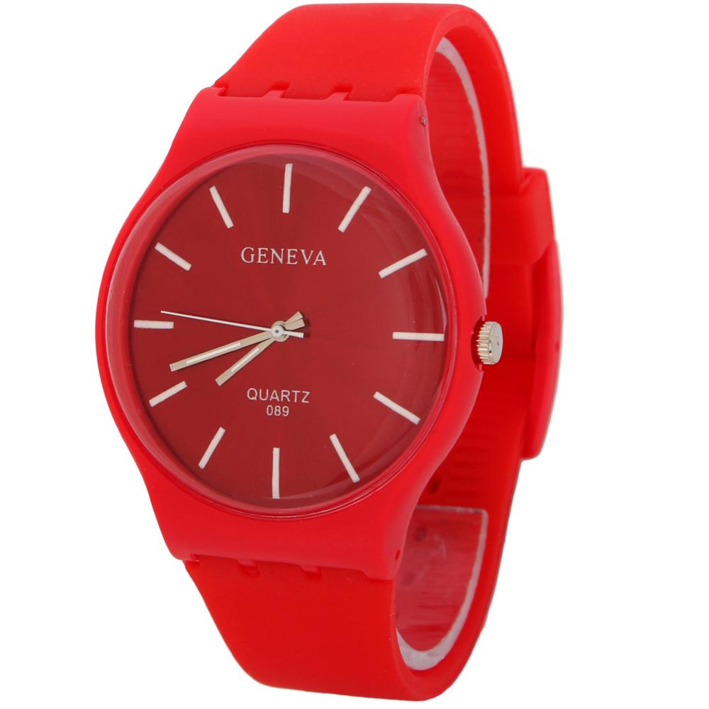 Luxury Top Sale Stylish Men Fashion Silicone Thin Case 2016 Red Simple Design Quartz Wrist Watch - zhongqi yi's store