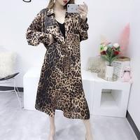 Korean Women 2018 Sunscreen Shirt Lady Summer New Loose Fashion Thin Leopard Print Chiffon Shirts Blouse Tops C296